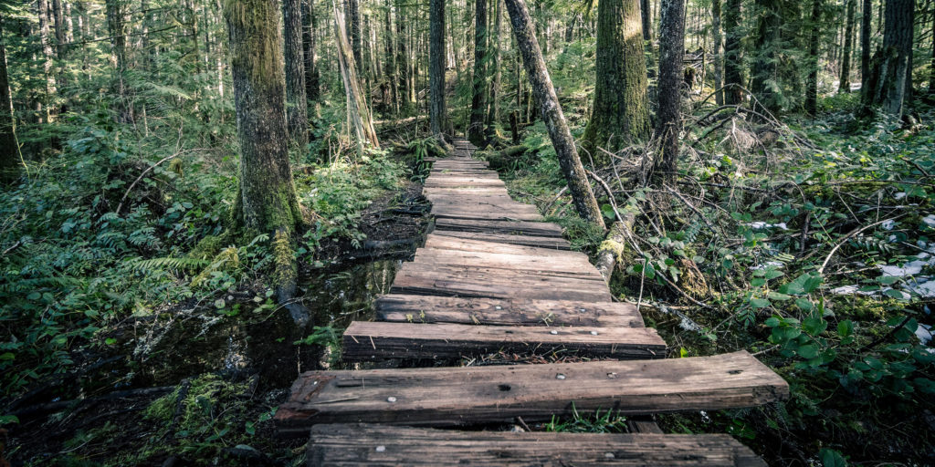 the old boardwalk